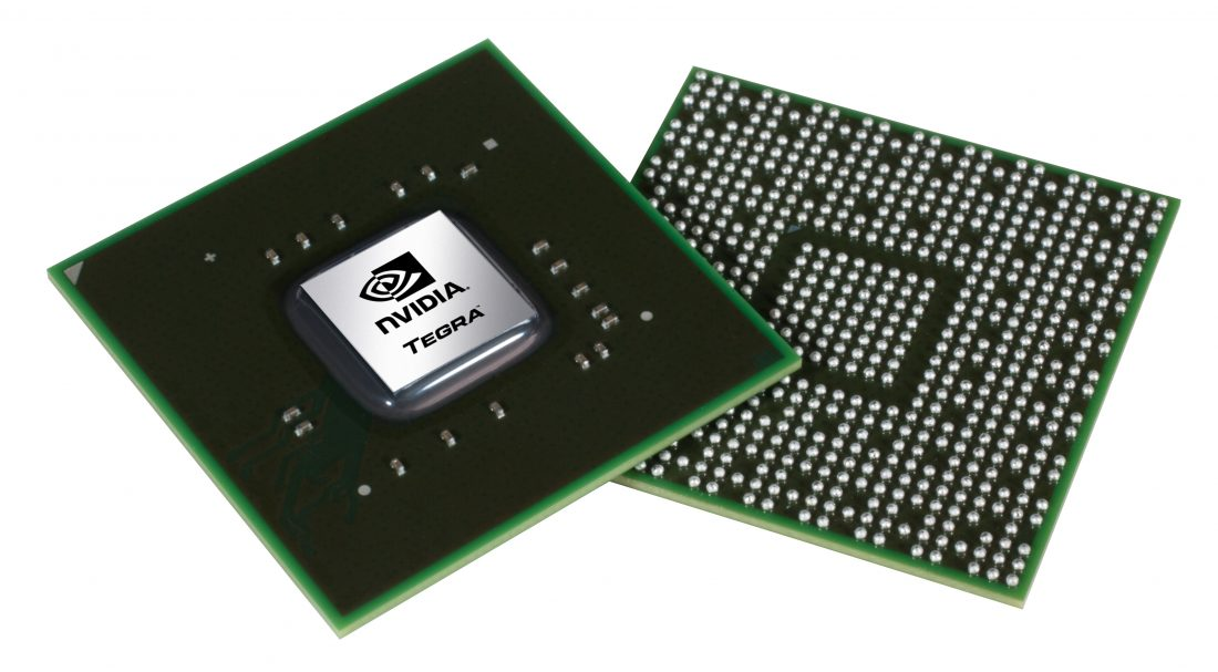 Above and below shot of the Nvidia Tegra 2 Processor