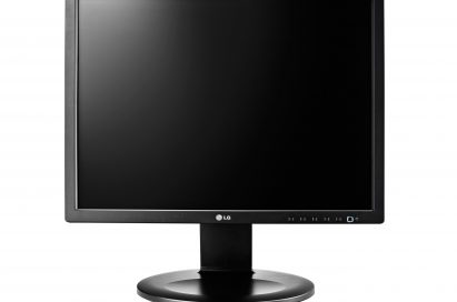 A front view of the LG E10 monitor series