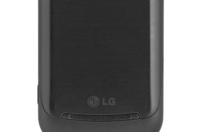 Rear view of the LG Optimus 7Q