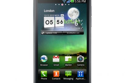 Front view of the world's first and fastest Dual-Core Smartphone, the LG Optimus 2X