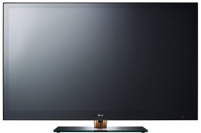 A front view of LG's 72-inch FULL LED-backlight LCD 3D TV model LZ9700