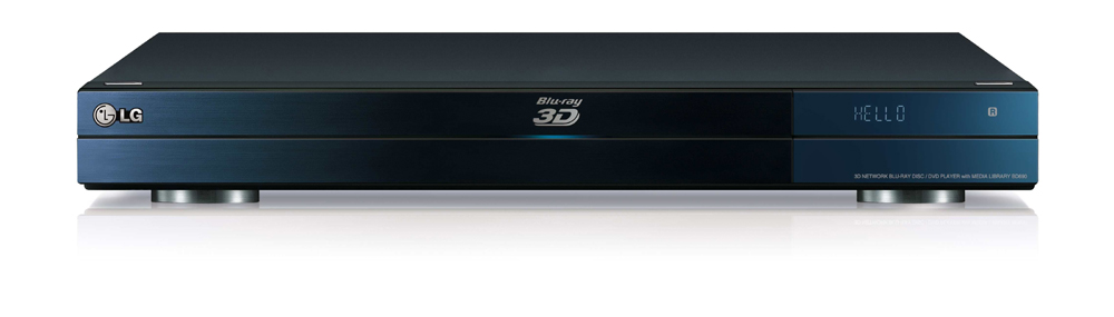Front view of LG's Network Blu-ray 3D Disc™ Player