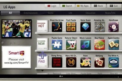 Screenshot of the LG App Store