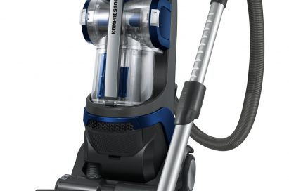 Front view of the LG KOMPRESSOR® vacuum cleaner