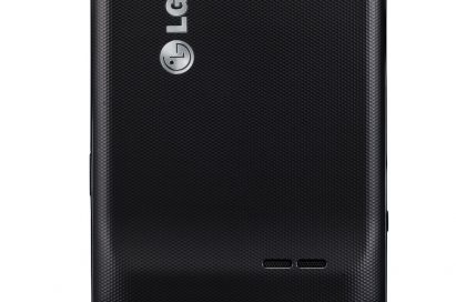 Rear view of LG's Optimus 3D Max