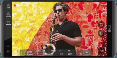 LG V20 capturing hi-fi video of musician with 24-bit lossless audio at 48 kHz LPCM