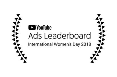 The logo of YouTube Ads Leaderboard for International Women's Day 2018
