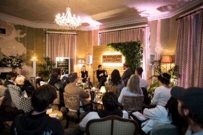 An overlooking view of the LG SIGNATURE Wine Cellar event