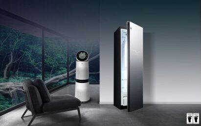 A cleaner home with LG appliances including LG Styler and LG's PuriCare air purifiers