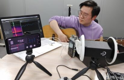 LG's sound engineer tests and calibrates the sound quality of the ASMR feature incorporated in LG's G8X ThinQ smartphone.