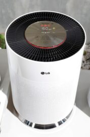 Close view of the LG PuriCare air purifier at LG's CES 2017 booth