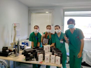 Medical workers posing with LG Smartphones