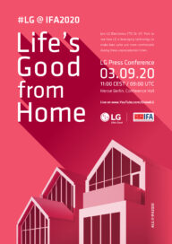 Concept art of a modern house used to promote LG's IFA 2020 'Life's Good from Home' theme