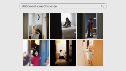 Participants' posts on their daily lives at home with their loving families, under the hashtag '#LGComeHomeChallenge'.