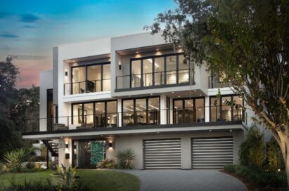 The facade of the New American Remodel 2021 (TNAR), a showhome equipped with LG's highly advanced appliances and technologies to deliver an impactful virtual tour.