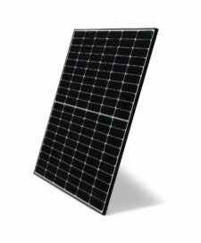 Sample image of LG NeON H solar panel – Cells arrayed on a black panel